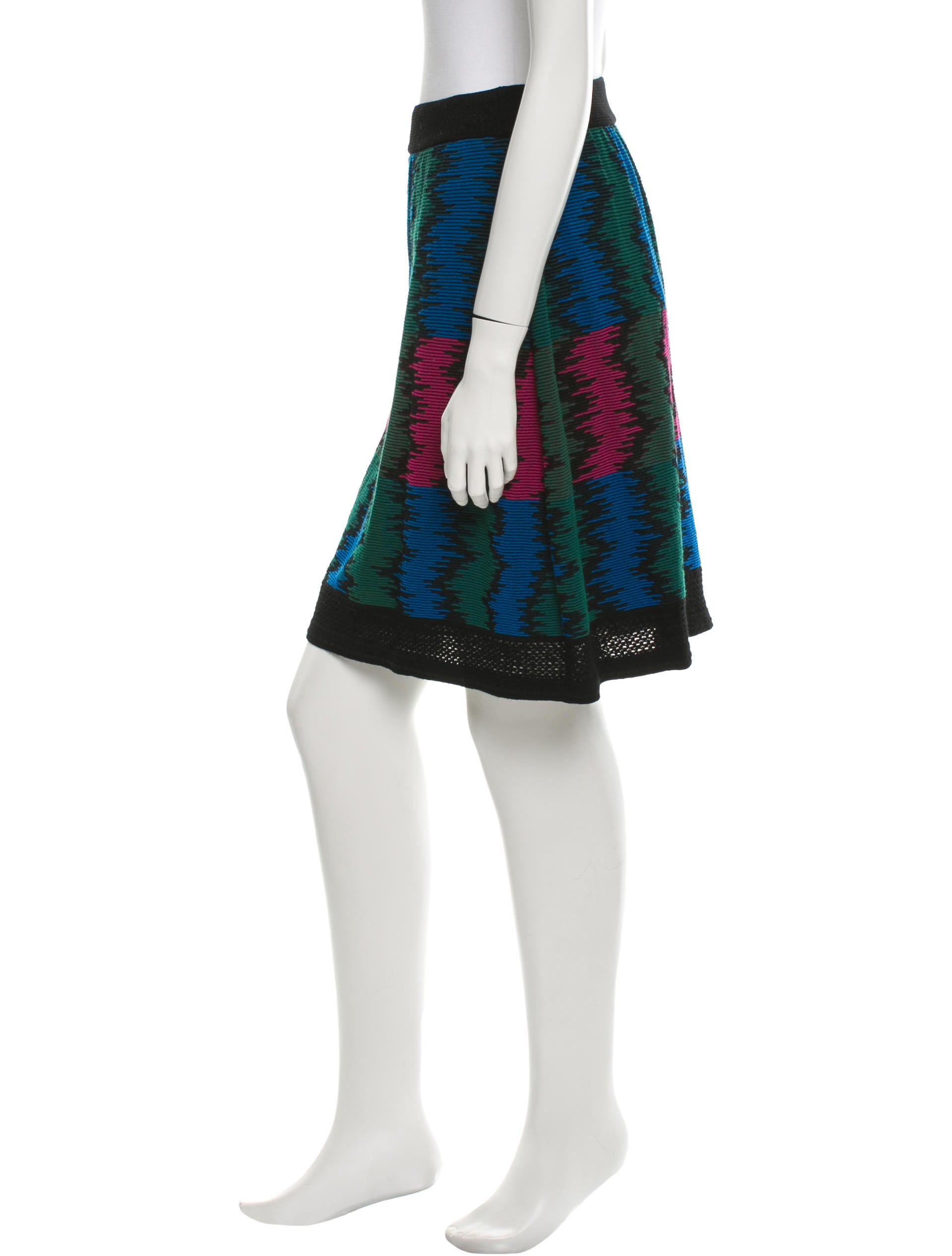 missoni patterned knit skirt clothing mis30090 the realreal. Black Bedroom Furniture Sets. Home Design Ideas