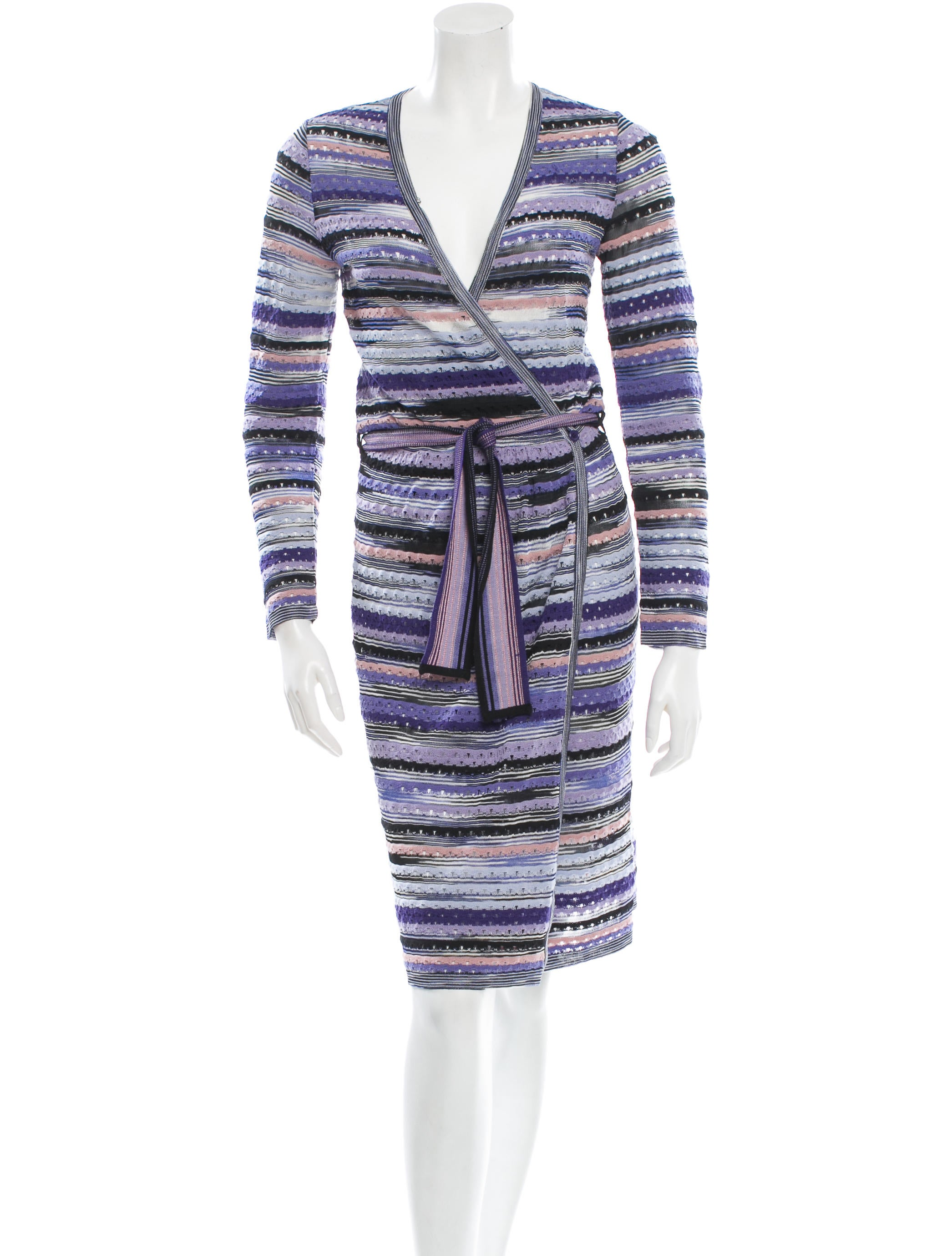 Missoni Knit Wrap Dress - Clothing - MIS30183 The RealReal