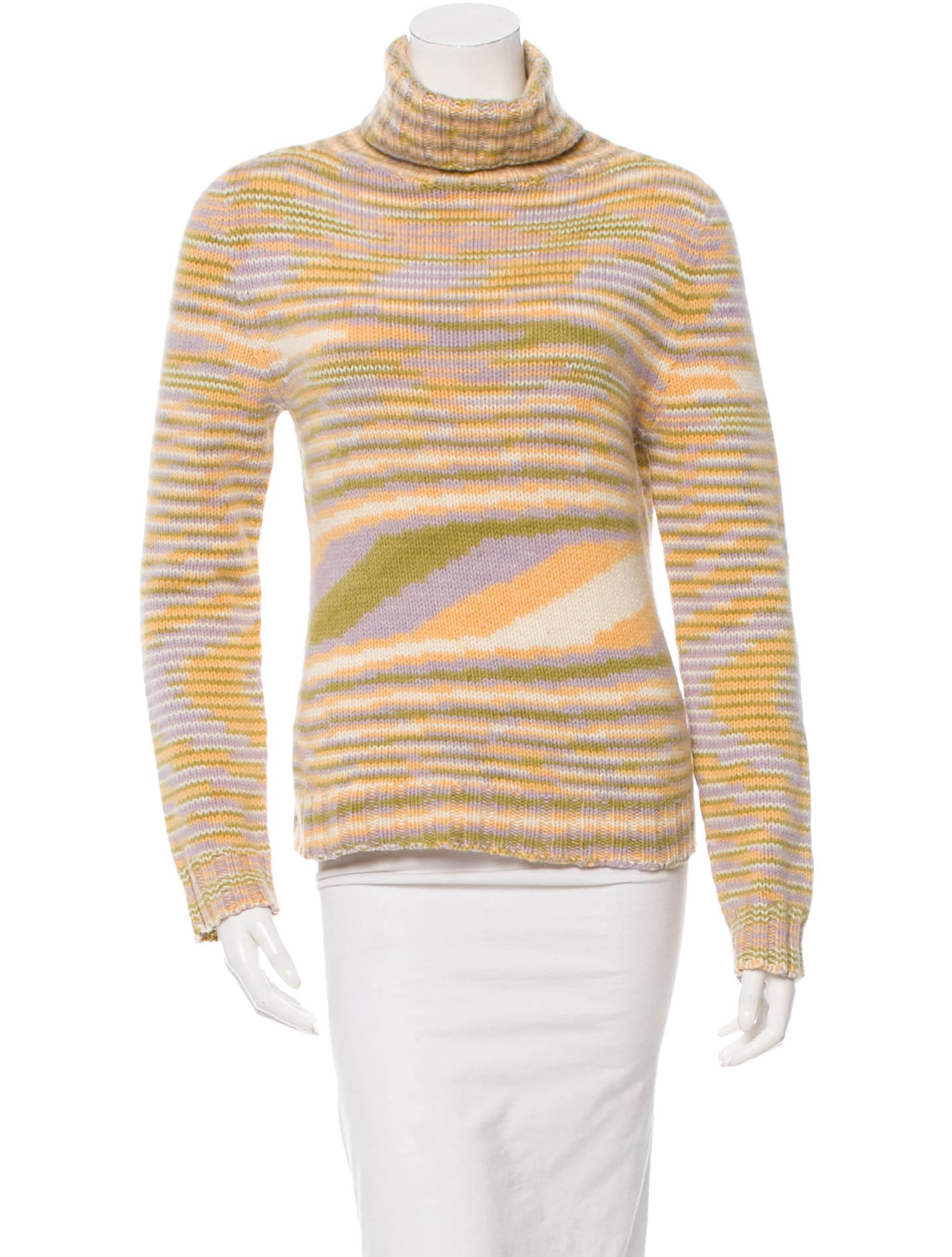 Missoni striped long sleeve sweater clothing mis30544 for Long sweaters and shirts