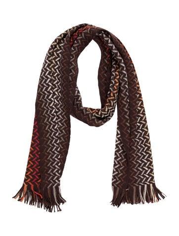 Wool Intarsia Scarf