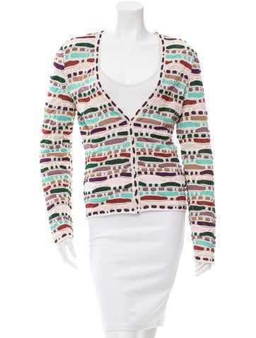 Missoni Patterned V-Neck Cardigan None