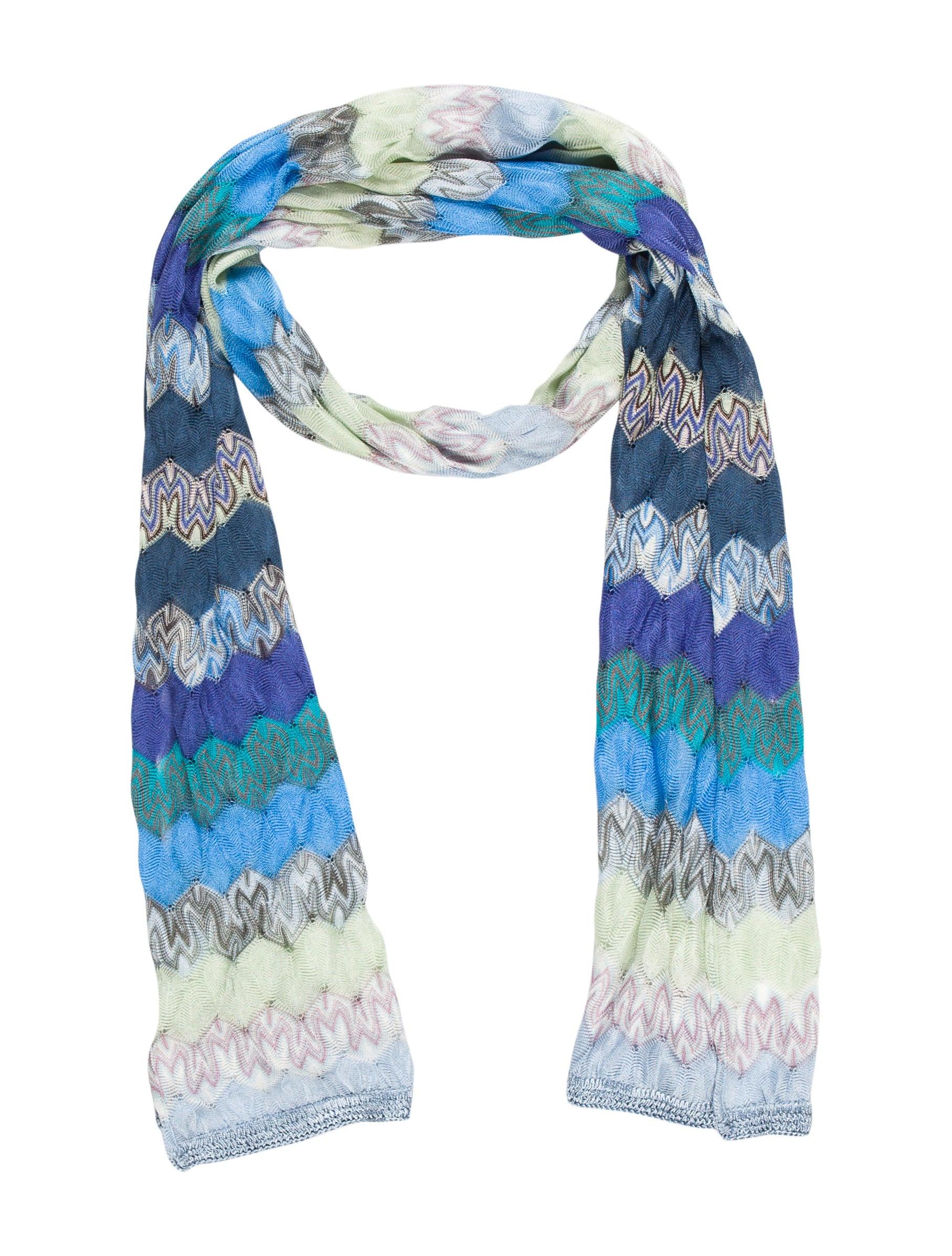 missoni chevron knit scarf accessories mis33605 the
