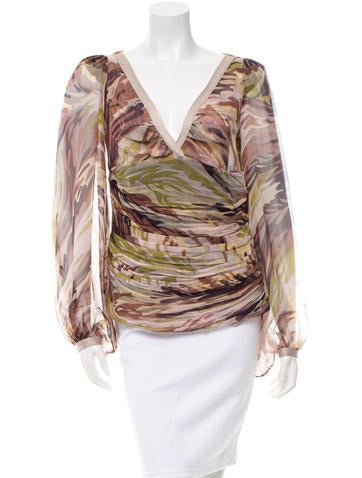 Missoni Sheer Silk Top None