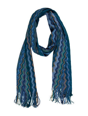 Missoni Fringed Rib Knit Scarf None