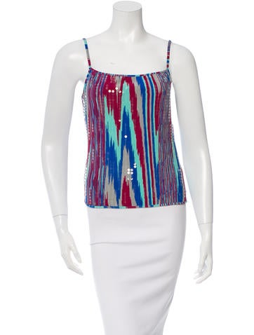 Missoni Sequin-Embellished Printed Top None