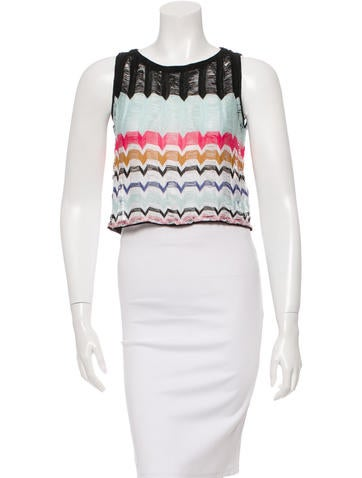 Missoni Patterned Crop Top None