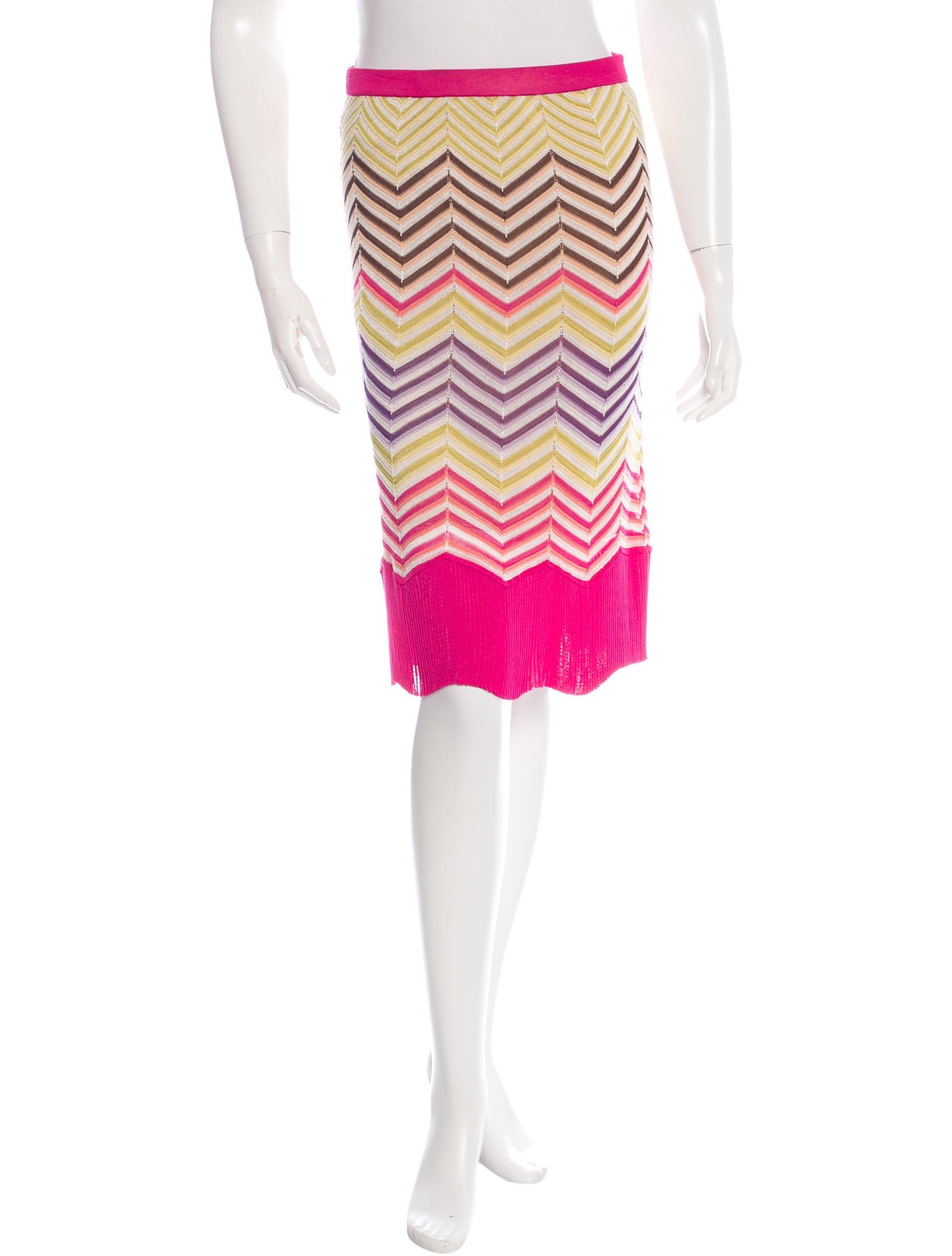 missoni knee length knit skirt clothing mis34905 the
