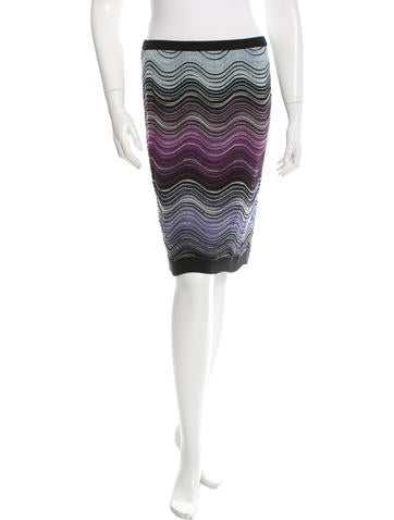 Missoni Wool-Blend Patterned Skirt None