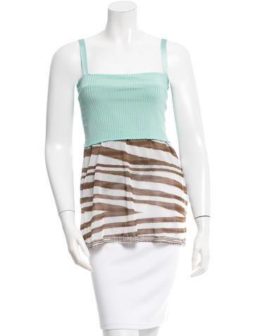 Missoni Striped Rib Knit Top None