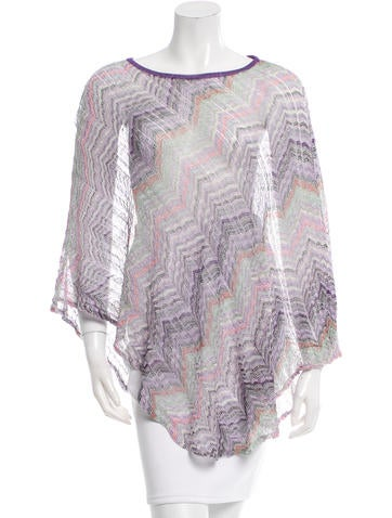 Missoni Printed Knit Poncho None