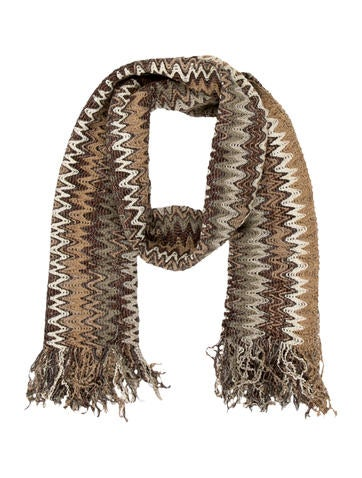 Metallic Chevron Scarf