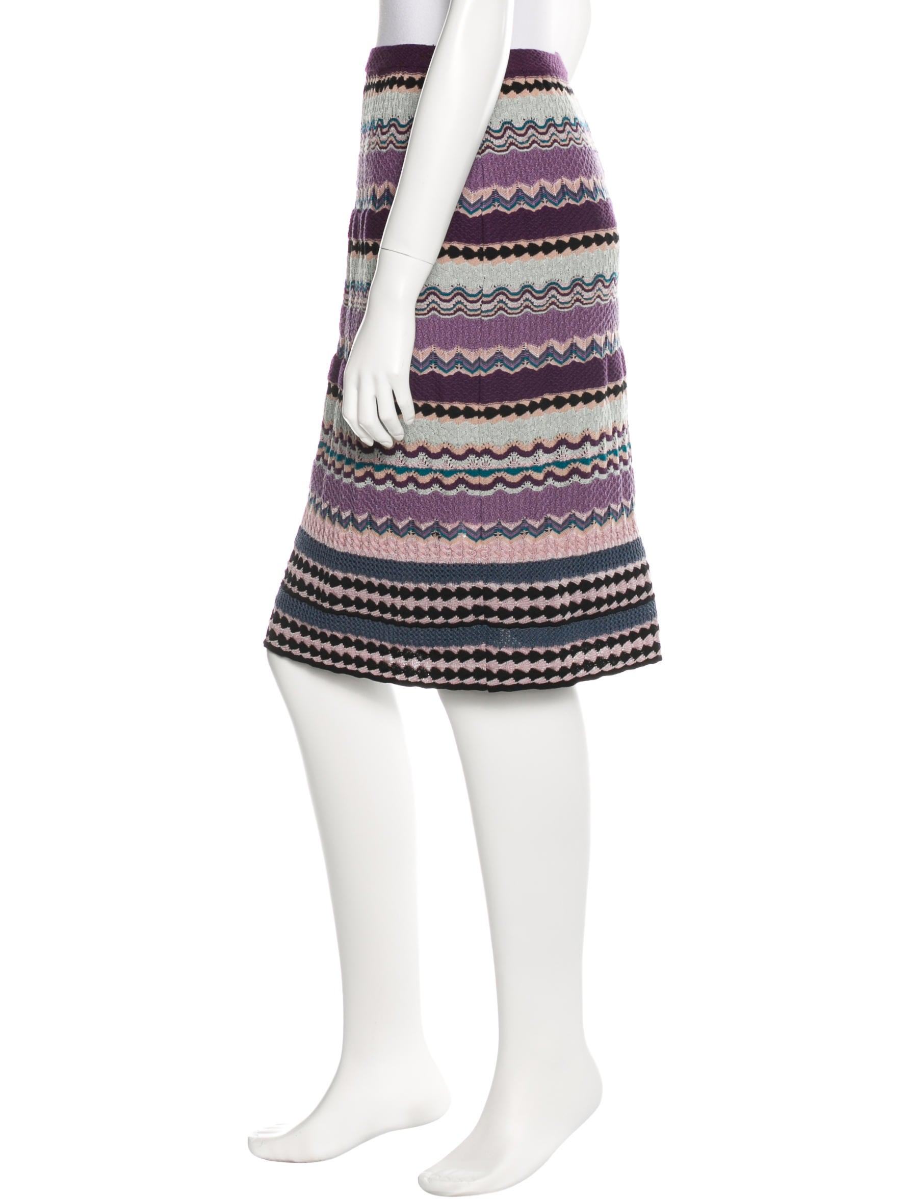 missoni knit knee length skirt clothing mis35591 the
