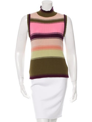 Missoni Striped Turtleneck Top None