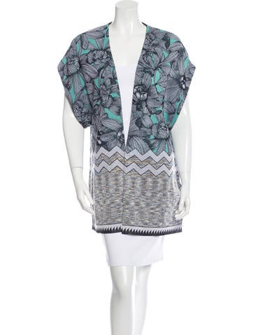 Missoni Floral Patterned Knit Cardigan None