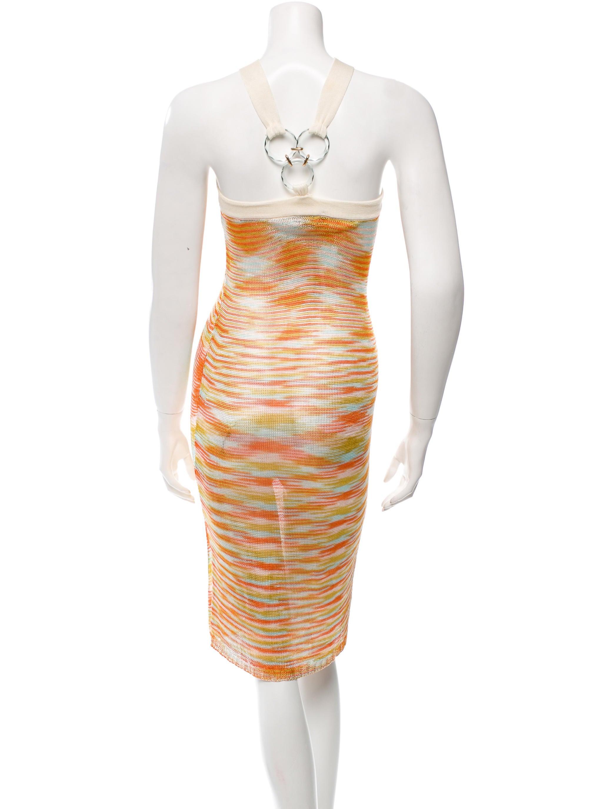 missoni patterned halter dress clothing mis35815 the realreal. Black Bedroom Furniture Sets. Home Design Ideas