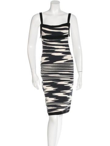 Missoni Rib Knit Sleeveless Dress None