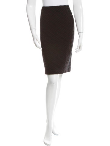 Missoni Patterned Knit Pencil Skirt None