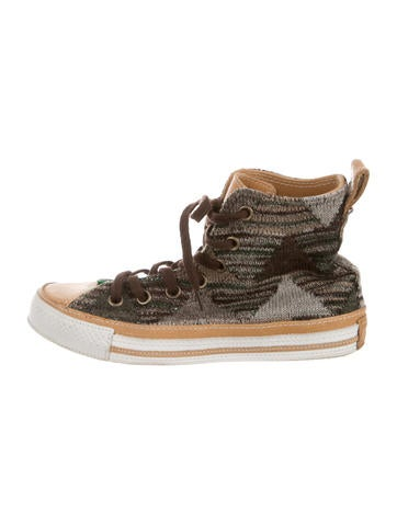 Missoni Knit High-Top Sneakers