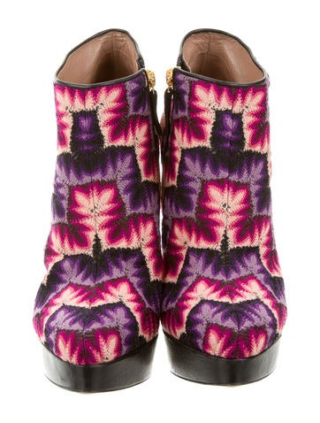 Abstract Pattern Ankle Boots