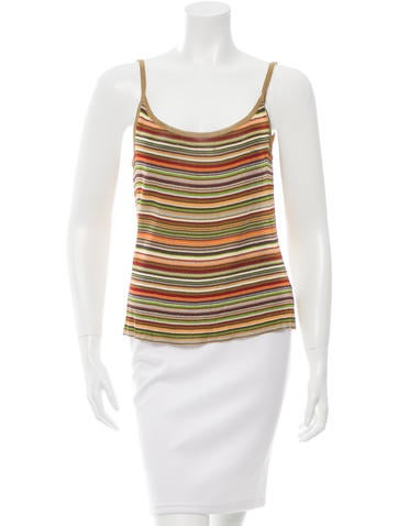 Missoni Patterned Sleeveless Top None
