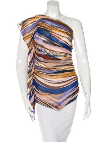 Missoni Ruffle-Accented Tube Top None