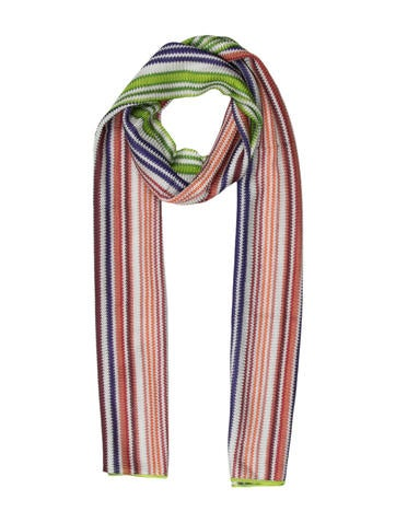 Missoni Multicolor Knit Scarf w/ Tags None