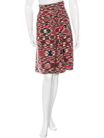 Missoni Cashmere Knit Skirt None
