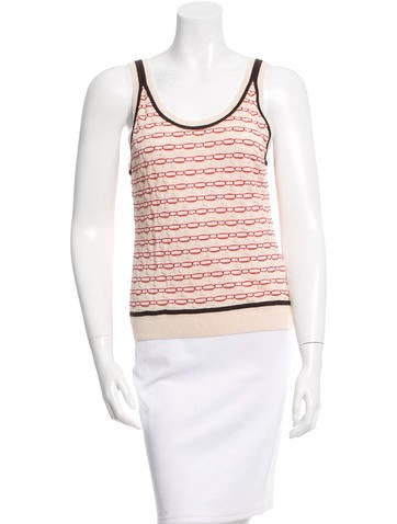 Missoni Sleeveless Patterned Knit Top None