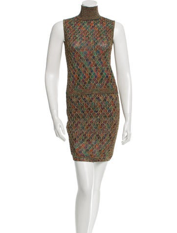 Missoni Metallic Patterned Skirt Set None