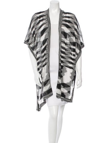 Missoni Patterned Knit Poncho None