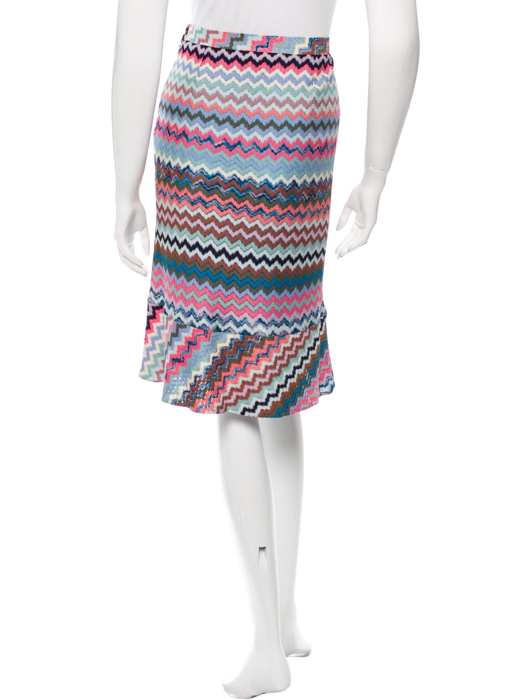 missoni knit knee length skirt clothing mis36912 the