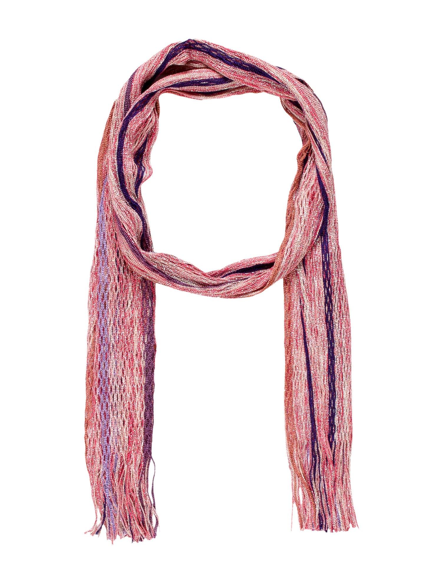 missoni striped mesh scarf w tags accessories