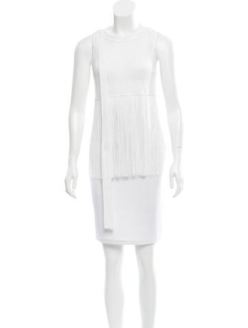 Missoni Sash Tie-Accented Fringe-Trimmed Top None