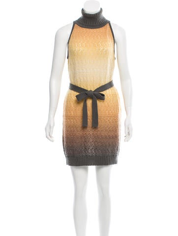 Missoni Belted Open-Knit Dress None