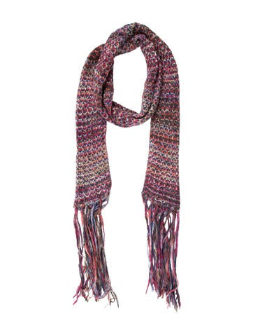 Missoni Pink Knitted Scarf None