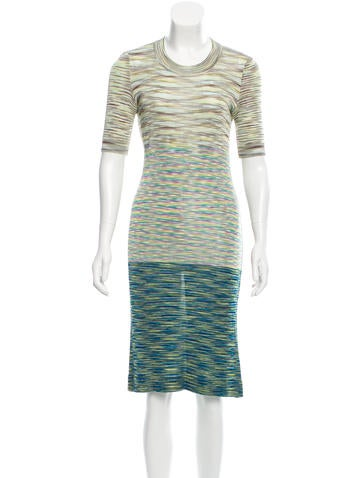 Missoni Striped Knit Dress None