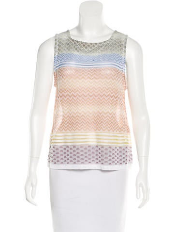 Missoni Jacquard Sleeveless Top None
