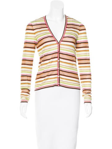Missoni Striped Lattice Cardigan None