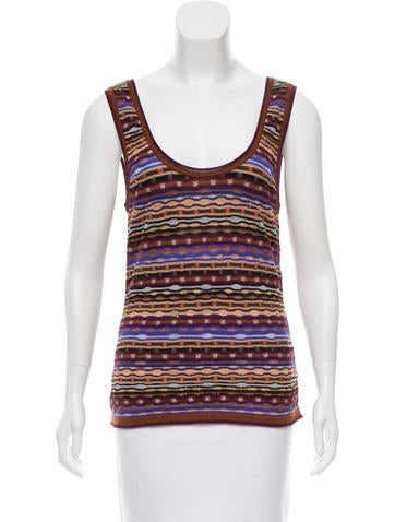 Missoni Striped Wool-Blend Top None