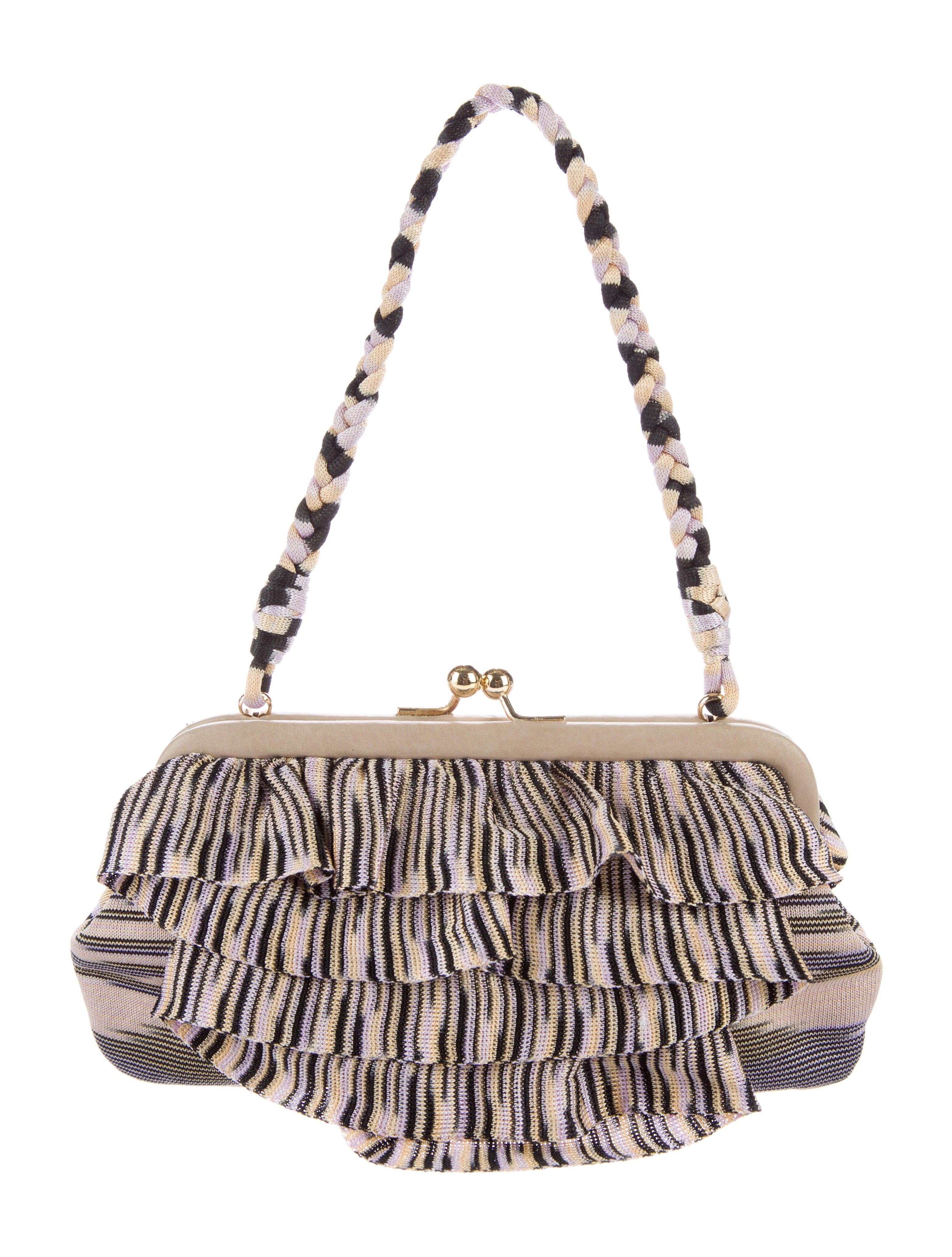Rib Knit Frame Handle Bag
