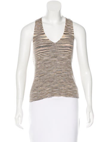Missoni Cashmere & Silk-Blend Top None