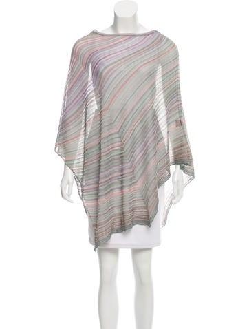Missoni Asymmetrical Knit Poncho None