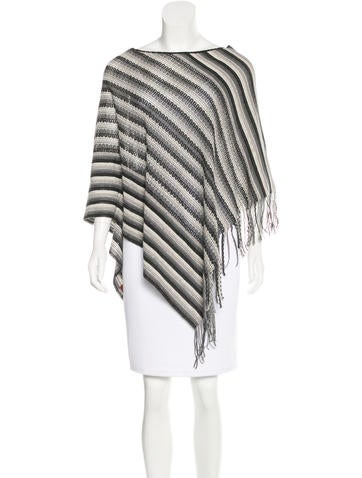 Missoni Striped Asymmetrical Poncho None
