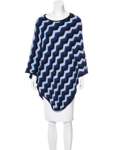 Missoni Chevron Knit Poncho None