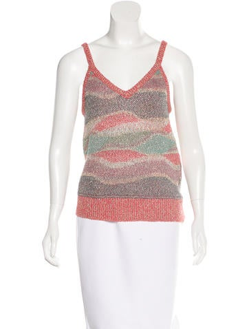 Missoni Metallic Knit Top None
