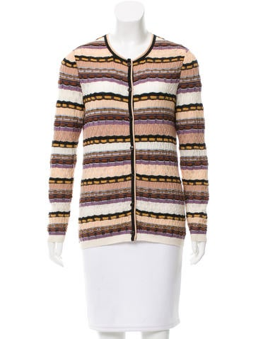 Missoni Striped Crew Neck Cardigan None