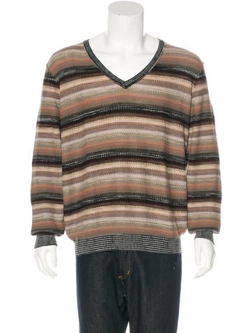Missoni Striped Wool-Blend Sweater None