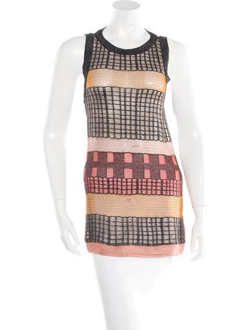 Missoni Metallic Sleeveless Tunic None