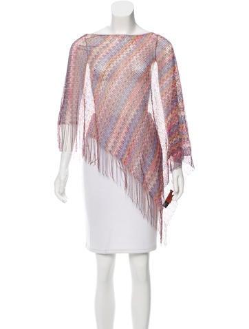 Missoni Patterned Knit Poncho None