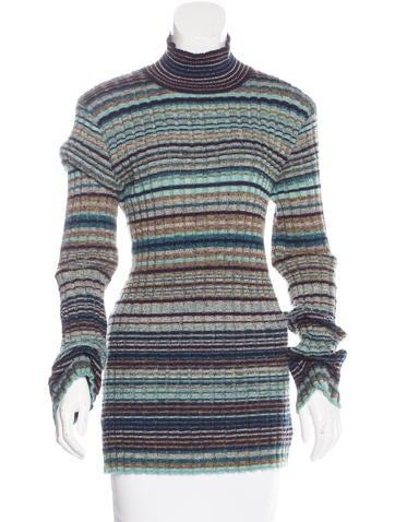 Missoni Striped Turtleneck Sweater None